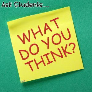 Asking science students what they think about scientific concepts